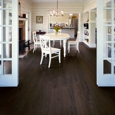 "Rialto Plank 4-1/2"" Engineered Red Oak Flooring in Burnt Umber"