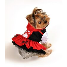 Red Hood Dress Dog Costume