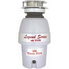 Legend 1/2 HP Garbage Disposal with Continuous Feed