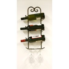 Xiafeng 3 Bottle Wall Mounted Wine Rack