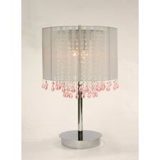 "Rovello 3 Light Crystal 35"" H Table Lamp with Drum Shade"
