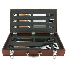 <strong>Mr. Bar-B-Q</strong> Rosewood Handle Forged Tool Set (Set of 5)