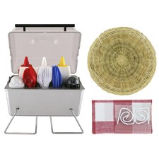 61 Piece Deluxe Picnic Kit