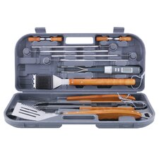 12 Piece Stainless Steel Grilling Tool Set with Bonus Thermo Fork