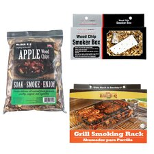 Grill Smoker Kit with Apple Wood Chips