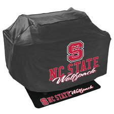 NCAA Grill Cover and Grill Mat Set