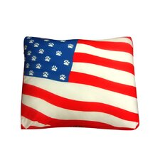 Rectangle American Flag Dog Pillow