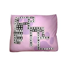 Rectangle Crossword Puzzle Dog Pillow