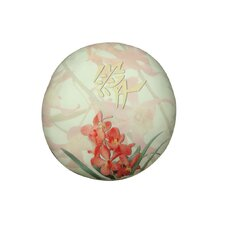 Round Orchid Dog Pillow