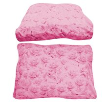 Rectangle Pink Rose Dog Bed