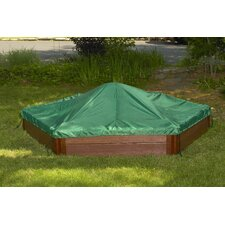 Two High 7' Hexagon Sandbox with Cover