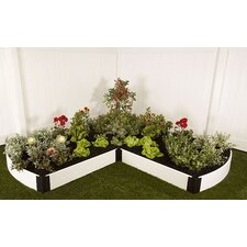 Classic White L-Shaped Raised Garden