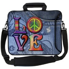 <strong>Designer Sleeves</strong> Executive Sleeves Love(Peace) PC Laptop Bag