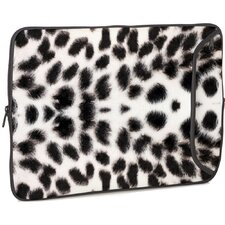 White Leopard Designer MacBook Sleeve