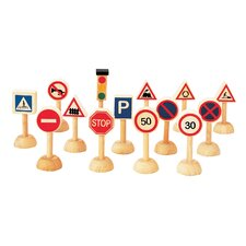 City 14 Piece Traffic Signs and Lights Set