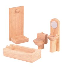 <strong>Plan Toys</strong> Classic Dollhouse Bathroom