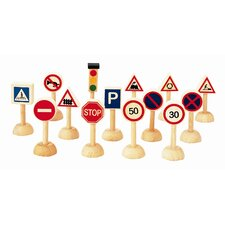 City 15 Piece Traffic Signs and Lights Play Set
