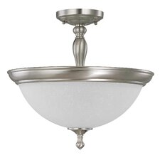 <strong>Nuvo Lighting</strong> Bella 3 Light Semi Flush Mount
