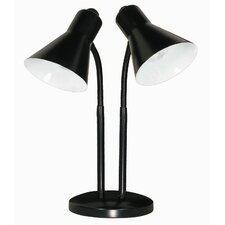 2 Light Twin Goose Neck Table Lamp