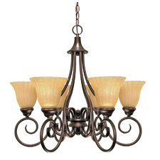 <strong>Nuvo Lighting</strong> Moulan 6 Light Chandelier