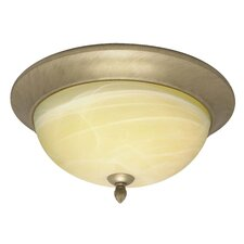 <strong>Nuvo Lighting</strong> Vanguard  Flush Mount in Flemish Gold