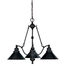 <strong>Nuvo Lighting</strong> Bridgeview 3 Light Chandelier