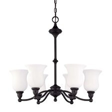<strong>Nuvo Lighting</strong> Glenwood 6 Light Chandelier