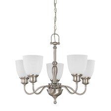 <strong>Nuvo Lighting</strong> Bella 5 Light Arm Up Chandelier