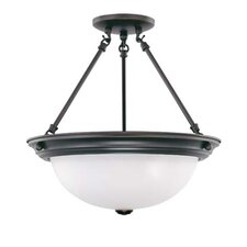 "15.5"" 3 Light Semi Flush Mount"