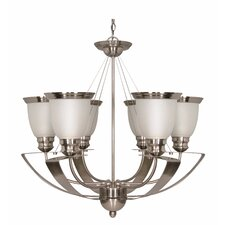 <strong>Nuvo Lighting</strong> Palladium 6 Light Chandelier