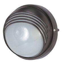 Round Hood 1 Light Wall Sconce