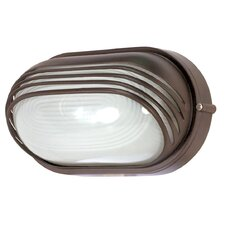 Oval Hood Wall Sconce in Architectural Bronze