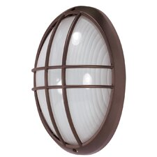 Large Oval Cage Wall Sconce in Architectural Bronze