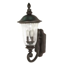 <strong>Nuvo Lighting</strong> Parisian 3 Light Arm Up Wall Lantern