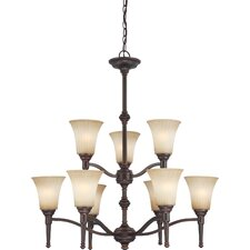 <strong>Nuvo Lighting</strong> Franklin 9 Light Chandelier