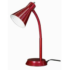 """Small Goose Neck 13"""" H Table Lamp with Empire Shade"""