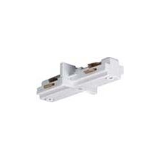 Mini Straight Track Light Connector in White