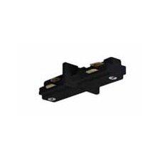 Mini Straight Track Light Connector in Black