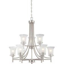 <strong>Nuvo Lighting</strong> Patrone 9 Light Chandelier