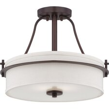 Loren 2 Light Semi Flush Mount