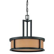 Odeon 4 Light Drum Pendant