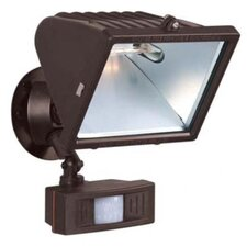 "<strong>Nuvo Lighting</strong> 1 Light - 12"" - Flood Light, Exterior - Large Halogen w/Motion Sensor"
