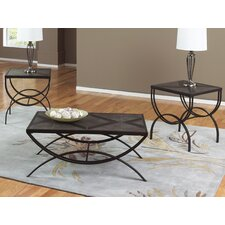 Gina 3 Piece Coffee Table Set