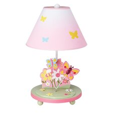 "Butterfly Buddies 19"" H Table Lamp with Empire Shade"