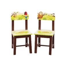 Jungle Party Kids Desk Chair (Set of 2)