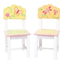 Gleeful Bugs Kids Desk Chair (Set of 2)