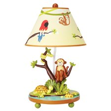 "Jungle Party 19"" H Table Lamp with Empire Shade"