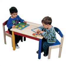 <strong>Guidecraft</strong> Moon & Stars Kids' 3 Piece Table and Chair Set