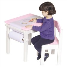 <strong>Guidecraft</strong> Pink Art Table & Chair Set