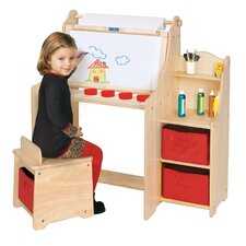 "<strong>Guidecraft</strong> Art Equipment 36"" W Art Desk Set with Storage"